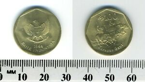 Indonesia 1994 - 100 Rupiah Aluminum-Bronze Coin - Buffalo Racing
