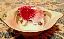 Vintage German Iridescent Porcelain Trinket Dish Bowl Hand Painted One Handled