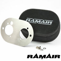 RAMAIR Carb Air Filters With Baseplate Dellorto 45/48 DHLA 65mm Bolt On