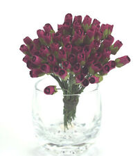 # 10 Small Fuschia Rosebuds on stems by Green Tara
