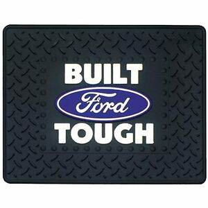 Plasticolor Built Ford Tough Car Truck SUV Rear Seat Utility Mat Ford Oval