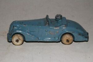 Barclay Toys, 1930's Speeding Convertible with Driver, Original