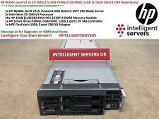 HP BL460c Gen9 V3 2x E5-2683v3 512GB P244br/1GB 12GB 1x 10GB 536FLB Blade Server
