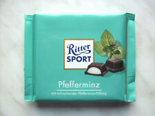 "4 x Ritter Sport Chocolate ""Peppermint-cream"" of 100gr./ total 400 grams net"