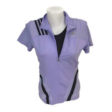 Adidas Women s Purple Half Zip Fitted Athletic Top Jersey Built In Bra Small 4df95dce6