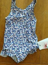 SWIMMING COSTUME M&S AGE 6-9 MONTHS BLUE MIX SUN SAFE UPF 50+LINED ON FRONT NEW