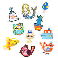 10PCS Animal Embroidered Applique Sew Iron on Cloth Patch Badge Jeans Craft %p
