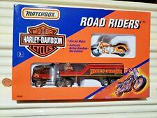 Matchbox 1992 76420 Harley Davidson Truck with Orange Motorcycle Mint In C9 Box