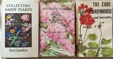 3 gardening books; Rhododendrons & magnolias, cool greenhouse and hardy plants