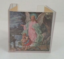 vintage plastic desk pad paper note pen holder with paper guardian angle picture