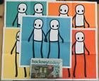 Stik holding hands poster ( FULL SET). + Hackney newspaper.