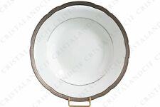 Assiette creuse Torsade incrustée par Bernardaud. Soup plate Torsade incrustée