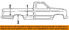 FORD OEM 87-91 F-350 Pick Up Box Bed-Front Molding Left F1TZ1529077BA