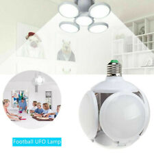 E27 Football UFO Lamp LED Workshop Folding Light Garage Deformable Ceiling Bulb