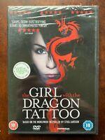 The Girl con El Dragon Tatuaje DVD Stieg Larrson's Sueco Suspense Película Bnib