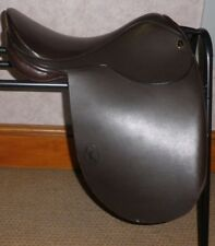 """GFS Fieldhouse English Leather Show Saddle - Brown -  16"""" Seat"""