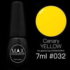 MAX 7ml Nail Art Color UV LED Lamp Soak Off Gel Polish #032-Canary Yellow