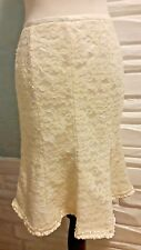 $110 Gorgeous Thick Lace Sandra Darren Nordstrom Skirt w/ Anthropologie Flair 10
