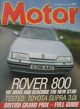Motor 12/7/1986 featuring Toyota Supra road test, Fiat Croma Turbo, Rover