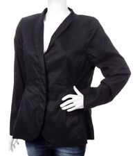 Eileen Fisher Womens Blazer Jacket Black Silk Blend Size L Career Office