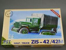 1/72 PST  Zis-42 / 42M Half Truck Tank Plastic Model Kit #d2