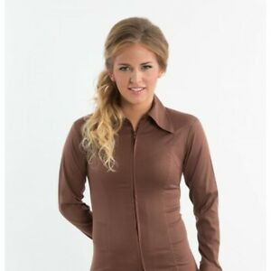 Royal Highness Equestrian Western Show Shirt - Brown