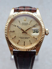 VINTAGE oro Rolex OYSTER PERPETUAL DATEJUST CRONOMETRO Watch 36mm
