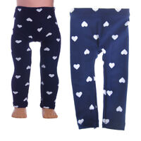 Doll Heart Pattern Tight Pants for 18 Inch  43cm Zapf Doll Clothes