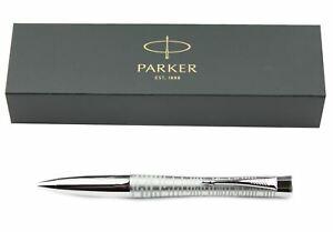 Parker Urban Premium Ballpoint Pen - Silver-Blue Pearl CT - Black Ink