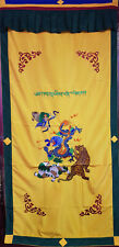 Dragon and Tiger Embroidered Tibetan Door Curtain