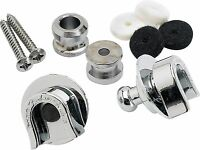 Genuine Fender Guitar & Bass Strap Locks Chrome Schaller Straplocks 099-0690-000