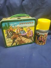 New ListingBonanza Children's Vintage Metal Lunch Box Thermos 1963 Aladdin Western