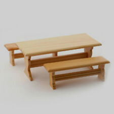 Bambole Casa Luce Tavolo in legno e due panche in scala 12A
