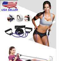 Exercise Latex Resistance Band Fitness Stretch Training Yoga Tube Home Workout
