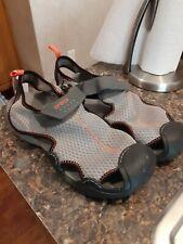 Crocs Swiftwater Mesh Water Shoes Grey Orange Sandals Men Size 11