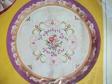 Creative Circle A Mother's Love  Cross stitch KIT 1947 Damask Fabric & Hoop NIP
