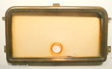 vintage GE GENERAL ELECTRIC F-75 radio part:  BRASS STATION FACEPLATE & PLASTIC