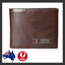 Premium Genuine Leather Mens Purse Bifold Brown Business Credit Card Wallet OZ