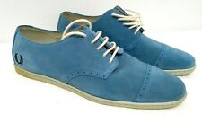 Fred Perry Laurel Line Mens Shoes Size 7 UK Blue Melton Suede (Limited Model)