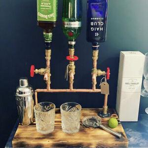 Handcrafted Drinks Dispenser, Copper 'Triple XXX' Man cave Home/Garden Bar