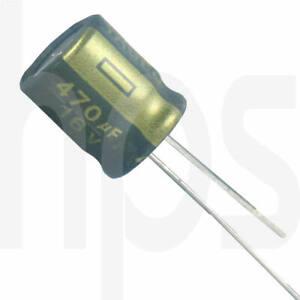 10 Stück lESR 105°C Elko Elektrolytkondensator 470µF 16V YAGEO SC 10 x 12mm RM-5