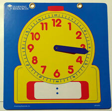 Large 30.5cm Teach time/demonstration clock wipe clean Maths learning resources