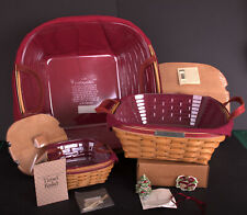 Longaberger 2005 Christmas Garland, Silver Bells and Tinsel Baskets
