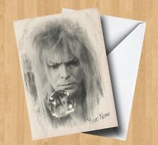 Personalised Labyrinth Inspired (David Bowie) Sketch/Art Style Birthday Card