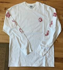 NEW BBC Billionaire Boys Club White Red Long Sleeve T-Shirt size Large L