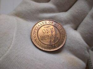 1911 Australia Penny coin (GEM Grade)