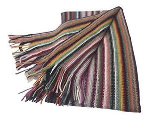 100% Cashmere Scarf - College Stripe Warp Knit - Made in Scotland