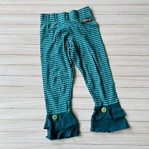 Matilda Jane Turquoise Teal Striped Ruffled Pants Girl's Size 8