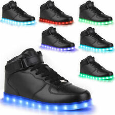 Unisex LED Light High Top Shoes Lace Up Luminous Casual Sportswear  size 36