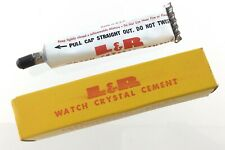 L & R Watch Crystal Cement Kearny NJ Vintage Box and Tube Q343